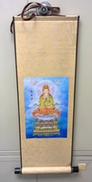 Very Beautiful Silk Scroll Wall Painting of 55*17 inch name Bodhisattva GY005 for living room decor,Free shipping