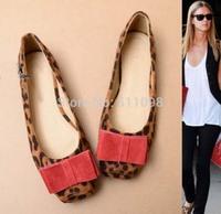 Free shipping fashion comfortable women's soft bottom shoes leisure square metal head big yards flat shoes