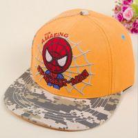 Sun Hats Korean Spring Summer Children's Hip Hop Caps Baseball Cap Spider-man Hat For Boys Girls Accessories