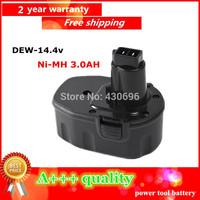 14.4V Ni-MH 3.0Ah Replacement Power Tool Battery for Dewalt  DC9091 DE9038 DE9091 DE9092  DW9091 DW9094 DE9094  ,black  color