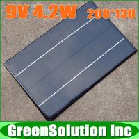 9V 4.2W 465mA Polycrystalline Silicon Solar Panels PV Module, Mini Epoxy Solar Battery Panel Charge for DIY Solar Power Kit