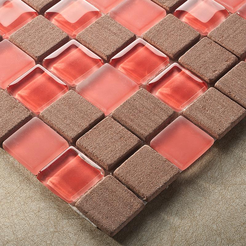 Wandbekleding steen promotie winkel voor promoties wandbekleding steen op - Rode mozaiek tegel ...