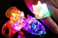 Cool LED Flashing Light Ring Blinking Party Soft Light Up Rave Glow Jelly