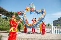 Children kid size 5.5m 6 children play brand new dragon dance Christmas festival china spring holidays