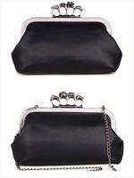 HB010,Free shipping Luxuriant gem skull ring fashion elegant dinner lady party handbag,unique evening party clutch