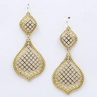 New Hot sale 2015 stud earrings hollow out metal  fashion earring jewelry wholesale