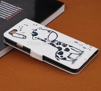 "Cartoon Giraffe PU Leather Flip Wallet Pouch Case Skin for iPhone 6 4.7"" + Screen Film"