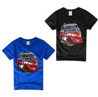 Baby boys t shirts 2015cartoon cars kids summer wear short sleeve t shirts children shirts kids clothing tops child clothing2-8T