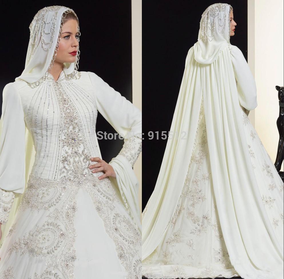 ... avec Hijab 2015 islamique robe de mariée dans Robes de mariée de