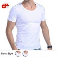 2014 new high quality Free Shipping 95%Cotton 5%Spandex Slim O-Neck Men T-Shirt  Bottom Underwear Short-Sleeve Undershirts