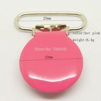 50pcs/lot,round top clip in hot pink color 25mm ribbon size wholesale Suspender Clip,Suspender Clips Suppliers & Manufacturer