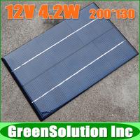 12V 4.2W 4.2 Watt 350mA High Quality Mini Polycrystalline Solar Panel Module Solar System Epoxy Battery Cell DIY Charge