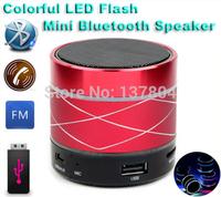 Bluetooth Speaker Mini USB Flash Disk Sound Card Multi-Function Colorful LED Portable Wileress Speaker FM Radio With Display