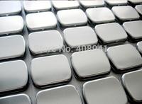 Free Shipping+Wholesale silver color rectangle tin box,plain metal box without printing,600pcs/lot
