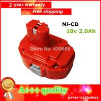 Ni-cd 18v 2.0Ah Replacement  for MAKITA  power tool battery 192827-3/1834/192829-9 /193159-1/1823/193140-2/193102-0/1822/1835