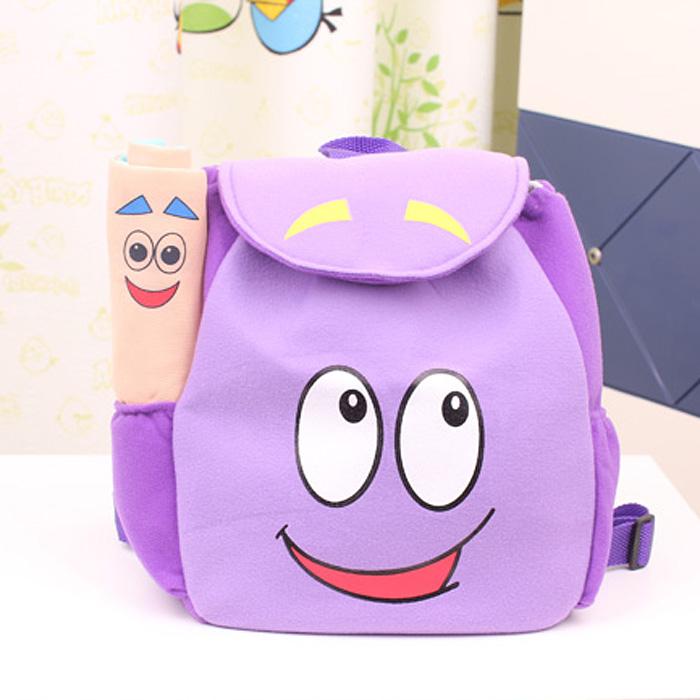 Nova chegada dora , a explorar packback com mapa kid ' saco de escola estudante de criança sacos cartoon criança(China (Mainland))