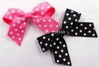 "2""  DIY Swiss Dot Mini Bow cheer  Bow can mixed color(no clips) 100pcs/lot"