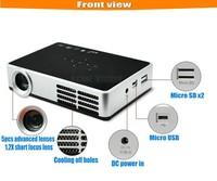 900 ANSI lumens 1280x800 pixels 10000:1 RGB led lamp pocket active shutter 3D DLP mini phone size palm projector