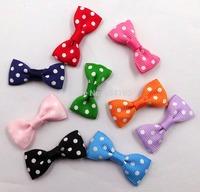 "1.25""   DIY Swiss Dot Mini Bow Tie Bow can mixed color (no clips) 100pcs/lot"