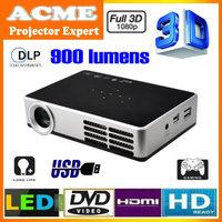 DLP-600B Full HD 1080p mini LED pocket 3D android DLP projector/proyector/projetor/projektor,10000:1 contrast
