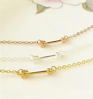 Wholesale 10pcs/lot-2015 Gold/Silver/Rose Gold Minimalist Jewelry Metalwork Cute Unique Tiny Arrow Modern Cuff Bracelet