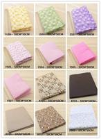63 Assorted Pre-Cut Charm Cotton Quilt patchwork Fabric , Best Match Floral Dot Grid 50x50cm per sheet - Pick your own colors