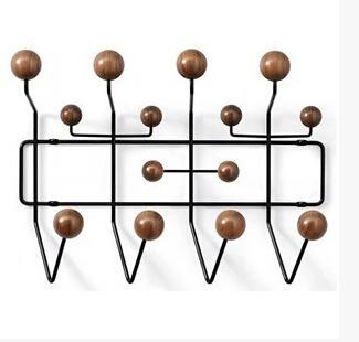 Special high-end designer furniture Scandinavian interior walls porch brown wood pellet hook coat rack(China (Mainland))