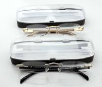 [brand box] Rimless high quality gafas de lectura briller reading glasses +1.0 +1.5  +1.75 +2.0 +2.5 +3.0