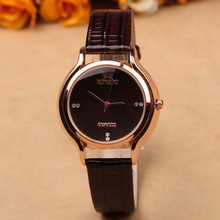 Charms red ladies beautiful ornament watch leather women casual quartz watch relogio feminino stainless steel Textured
