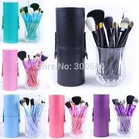 2015 Hot New 12 pcs Make up Brushes Purple Kits Include Professional 12pcs Makeup brush sets Beauty Tools
