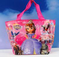 High quality  Free shipping 2pcs /lot SOFIA princess kids Mini bag,Children's cartoon nylon bag/Waterproof bag /handbag,