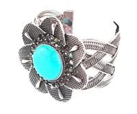 Fashion Stars Punk Gold Colors cross punk bangle braclets jewelry for women cuff bracelets Bijouterie For Women
