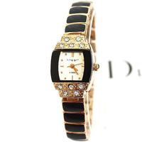 Simple and Decent Women Casual watches Square Rose Gold watchband New Fashion Lady Dress quartz Wristwatches Gold watch for gift