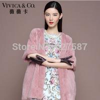2015 Hot sale Ladies' Fashion Genuine Natural Piece Mink Fur Coat Jacket long style Women Fur Overcoat Outerwear Coats