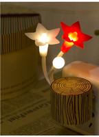 2015 LED Night Light Flower Shape LED Sensor Control  room/indoor LED Light New  Free Shipping