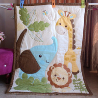 kindergarten baby quilt cloth cotton zoo elephant cotton 110*90cm cartoon quilt, freeshipping