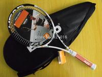 2015 brand new mens carbon tennis racket white hard tennis rackets with tennis bag head high quality