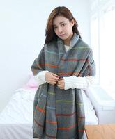 Winter Vintage Scarf Fashion Wool Spain Desigual Scarf Women Plaid Thick Long Scarves Shawl For Women 2015