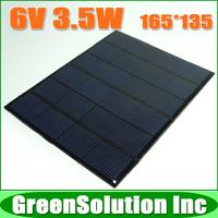 6V 3.5W 3 Watt Mini monocrystalline polycrystalline solar Panel charge for LED Solar garden lamp Wall light spot lighting