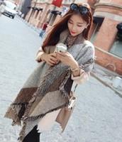 Thicker Plaid Scarf Winter Fashion Warm Woolen Tassels Scarves For Women Accessories long Shawl Wrap Pashmina