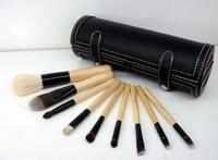 Free shiopping 2015 Hot new  Professional Makeup Brush set Kit Case With Cylinder Case 9pcs makeup brushes