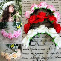1PC Lady Girl Floral Flower Festival Wedding Garland Forehead Hair Head Band Headbands Crown Accessories