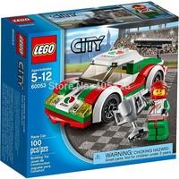 Original Brand Lego Blocks Bricks Learning Educational Models & Building Classic Toys 60053 City Series Race Car 100PCS
