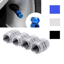 Universal 4 PCS Auto Bicycle Car Tire Valve Caps Tyre Wheel Hexagonal Ventile Air Stems Cover Airtight rims Accessories(China (Mainland))