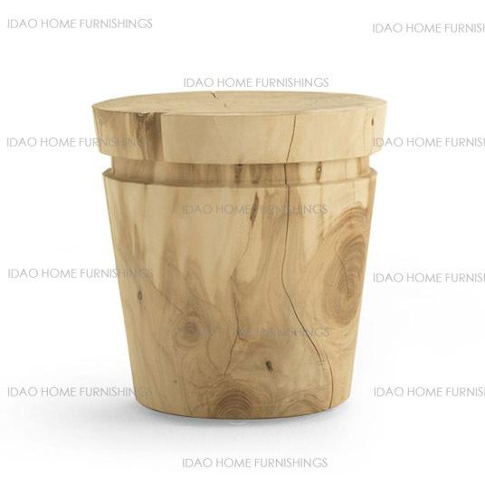 Yi Road, creative personality circular wooden benches / wood coffee table Side Natura Series SIESTA1 stool(China (Mainland))