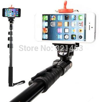 Yunteng 188 алюминиевого сплава ручной выдвижная Selfie монопод с клип держатель портативный штатив для цифровой камеры iPhone 5