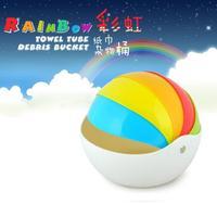 Rainbow Creative Paper Tissue Towel Tube Korean Colorful Tissue Box Tools Fruit Plate