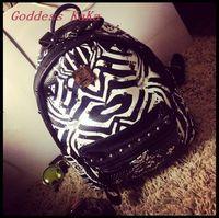 New design 2015 Women Backpack PU leather  fashion Zebra Pattern School Backpack all-match women travel bags BP004