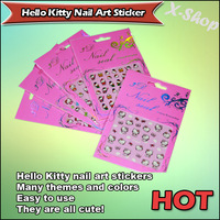 X-SHOP Hello Kitty Nail Art Sticker Many themes and colors-10 packs mixed design