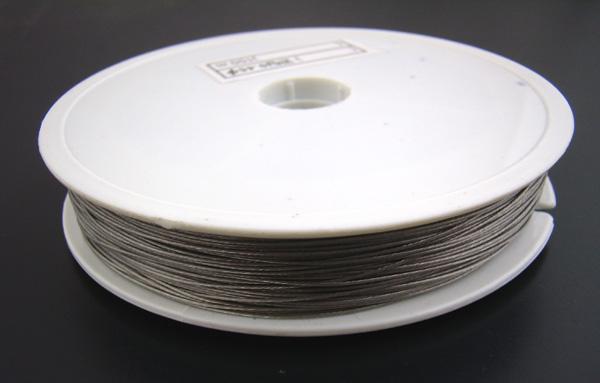 Fashion 1Roll New 2x30M Silver Tone Beading Wire Craft Jewelry Making 0.6MM(China (Mainland))